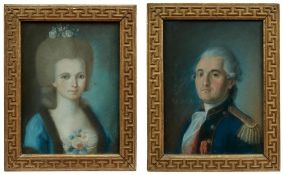 Portraitpendants eines Ehepaars