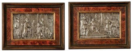 Zwei Reliefs mit historischen Szenen