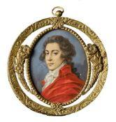 Miniaturportrait eines jungen Mannes