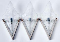 Drei Art-Déco-Wandlampen in der Art