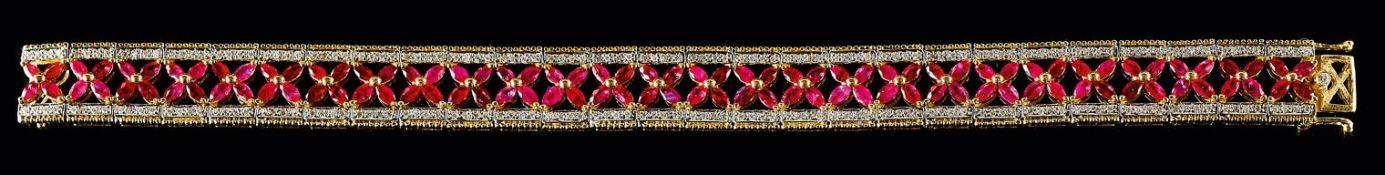 Brillant-Rubin-Armband