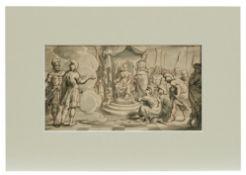Römische Soldaten huldigen eine Herrscherin