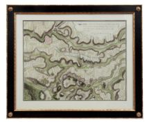 Manuskriptkarte zur Schlacht bei Hochkirch im Siebenjährigen Krieg, 1758