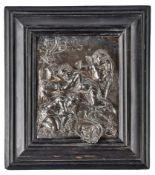 Relief mit Putten und Arma Christi in Landschaft