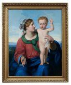Madonna mit Kind vor weiter Landschaft