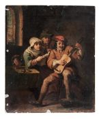 Gitarrenspieler in einer Stube