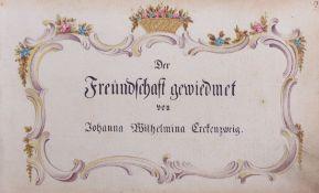 Freundschaftsbuch der Johann Wilhelmina Erckenzweig