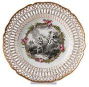Dessertteller mit mythologischer Szene aus einem Tafelservice für Friedrich II.