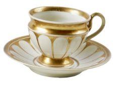 Biedermeier-Tasse mit originaler Untertasse