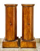 Paar Biedermeier Trommel-Nachtkästchen