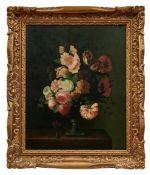 Stillleben mit Blumen in einer Pokalvase
