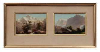 Zwei kleine Schweizer Alpenpanoramen