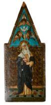 Kleines Andachtsbild mit der heiligen Katharina von Siena
