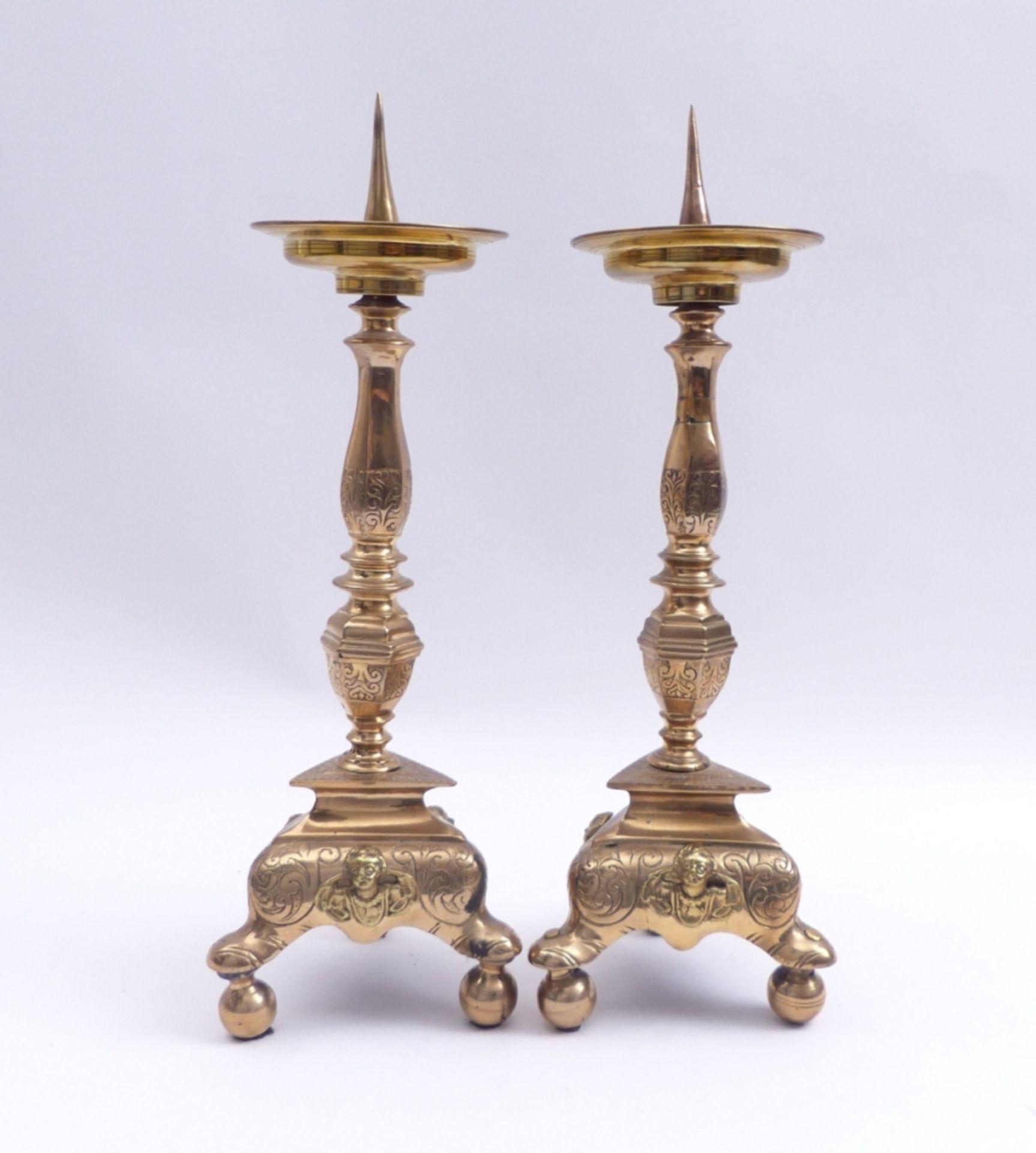 Paar Altarleuchter - Bild 2 aus 4