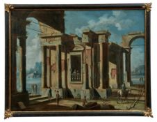 Architektur-Capriccio mit Figuren