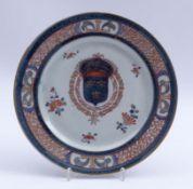 Imari-Teller mit französischem Wappen
