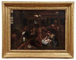 Anbetung des Jesuskindes durch die Hirten im Stall
