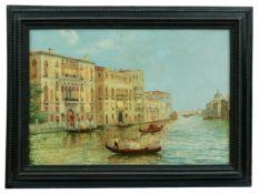 Gondolieri auf dem Canal Grande in Venedig