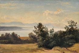 Christian Ernst Bernhard Morgenstern (zugeschr.), Voralpenlandschaft. Mitte 19. Jh.