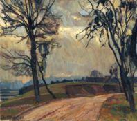 Bernhard Buttersack, Herbstliche Landschaft. 1915.