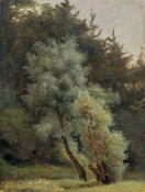 Carl Robert Kummer, Waldsaum im Abendlicht. Um 1830/1840.