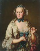 """Wohl sächsischer Maler (nach George Desmarées) """"Dame mit Occhi-Schiffchen"""" (Porträt der Maria A..."""