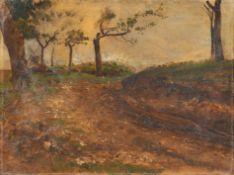 Karl Buchholz, Hohlweg im Weimarer Land. Wohl um 1875– 1880.