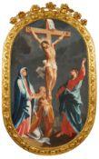 Süddeutscher Maler (?), Kreuzigung Christi. 1. H. 18. Jh.