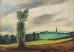 Siegfried Berndt, Landschaft bei Dresden. Wohl 1930er Jahre.