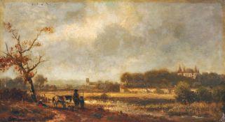 Adolf Stademann, Herbstliche Landschaft. 1880er Jahre.
