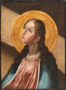 Unbekannter Künstler, Heiligendarstellung (Magdalena?). 17. oder frühes 18. Jh.