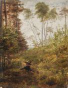 Carl Bertling, Am Waldrand (spielendes Kind). 1884.