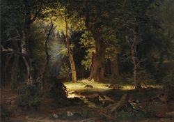 """August Emil Theodor Gotthard Heino """"Motiv aus dem Böhmerwald"""". 1873."""