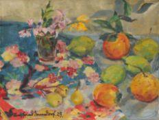 Siegfried Donndorf, Stillleben mit Zitrusfrüchten. 1929.
