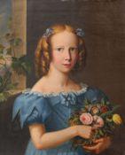 Deutscher Porträtmaler, Bildnis Ella von Kröcher (?). Spätes 19. Jh.