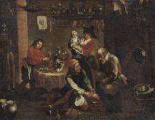 David Teniers d.J. (nach), Behandlung eines Fußkranken in einer Baderstube. Nach 1760.