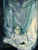 "Georg Gelbke ""Stoffe grün weiß"". 1919."