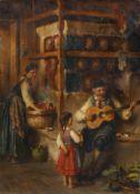 Richard Eisermann, Gitarrenständchen in der Bauernstube. 1880.