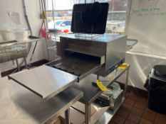 Lincoln Ventless Oven, 240 Volts, Model #2501HB3UO7V1620, S/N #1812100101464 (Includes Pizza Cutters