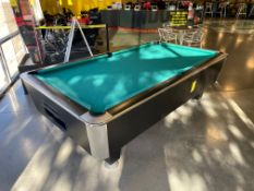 Murrey Pool Table, Approx. L = 100'', W = 66'', H = 32'', Takes Quarters