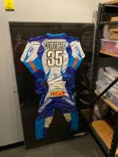 Smith Line Display Frame W/ Signed #35 Cunningham Racing Suit