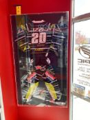 Smith Line Display Frame W/ Signed #20 Izzi Racing Suit, W = 2.5'', L = 40'', H = 70''