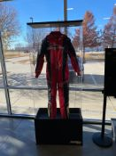 Smith Line Industries Display Case W/ Racing Kart Racing Suit, W = 14.5'', L = 32'', H = 81''