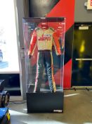 Smith Line Industries Display Case W/ Jamie Little Nascar Pit Reporter Racing Suit, W = 14.5'',