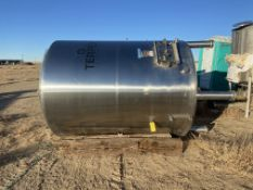 Century Stainless Steel Tank, 2132 Gal, Serial# 1247-01, Rigging/ Loading Fee: $50