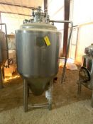 NEW Krones/ Cedarstone Industry Stainless Steel Jacketed Fermentation Tank, 4 BBL, Serial# CS19-46,