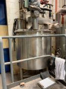 (Located in Burlington WI) 300 Gallon Stainless Process Tank