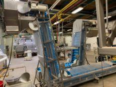 (Located in Burlington WI) Ultra Fab Cleated Belt Conveyor