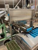 (Located in Burlington WI) Stainless Hopper with Vibratory Conveyor