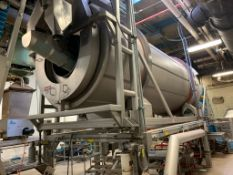 (Located in Burlington WI) Walker Stainless Horizontal Continuous Coating Pan 3600 CU/FT 316 SS